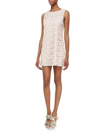 Dot Lace Sleeveless Dress
