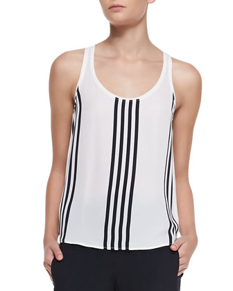 Isaac Striped Georgette Tank