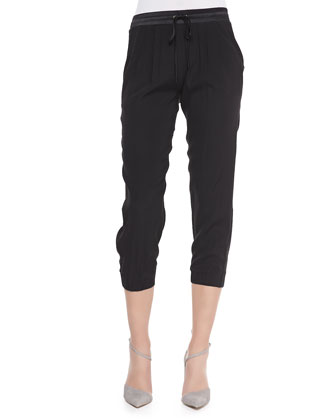 Cropped Drawstring Pants