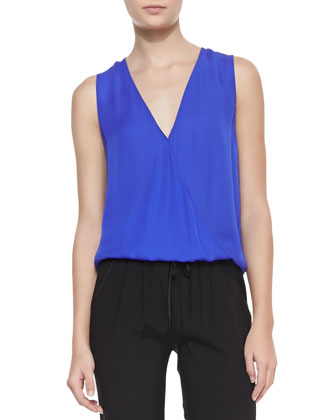 Double-Georgette Sleeveless Top
