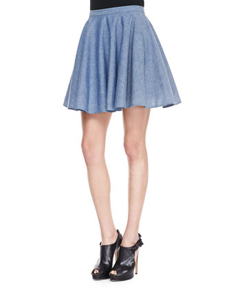 Tina Chambray Circle Skirt