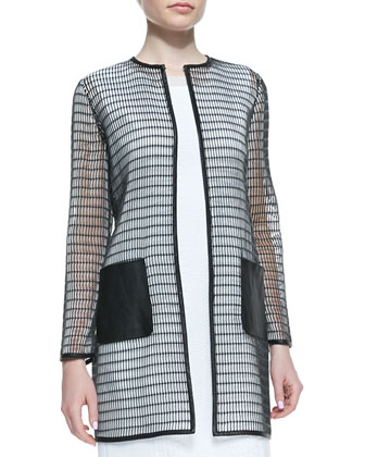 Soho Rectangular Mesh Coat