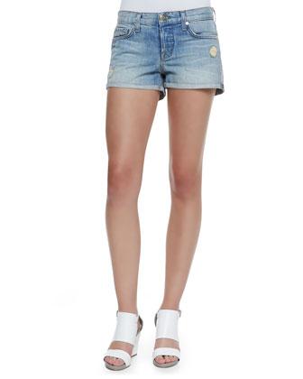 Patti Roll Magnetic Denim Cuffed Shorts