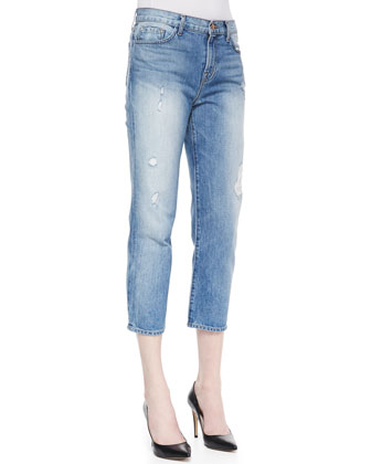 Ace Distressed Cropped Boyfriend Jeans