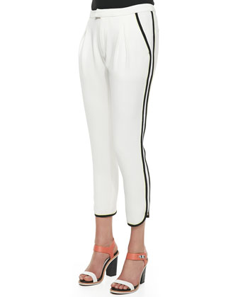 Platini Side-Stripe Cropped Pants