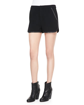 Platini Leather-Trim Shorts