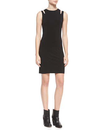 Vela Slit-Shoulder Jersey Dress