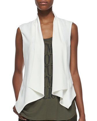 Drapey Crepe Vest, I'm Not Confused Tank & Abstract Camo Summer Shorts