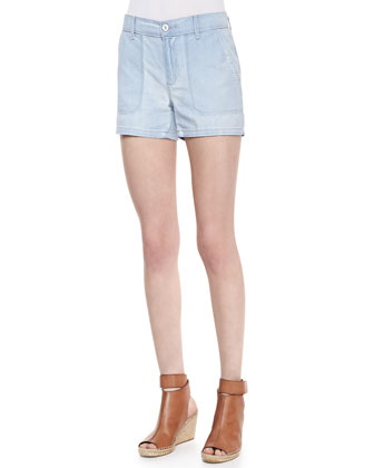 Chambray Pocket Shorts, Potassium Cloud