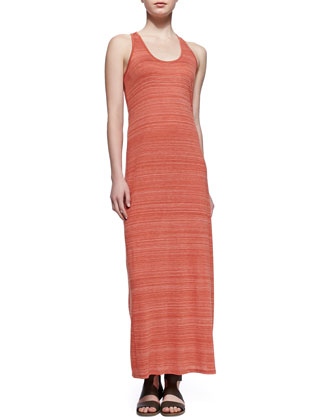 Slub Racerback Maxi Dress, Chili