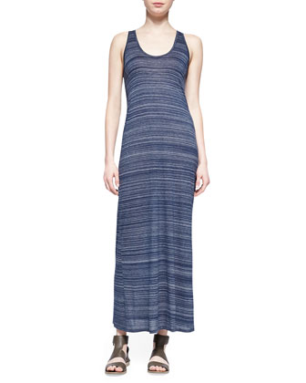 Slub Racerback Maxi Dress, Heather Coastal