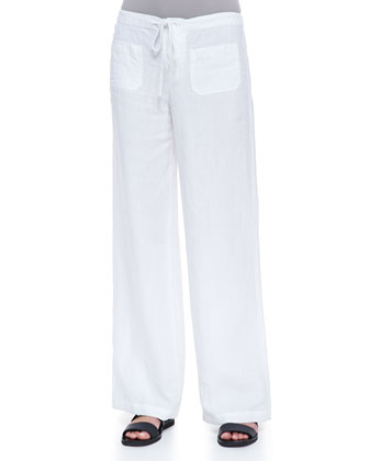 Drawstring Linen Beach Pants
