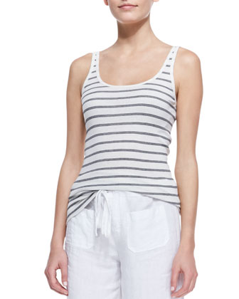 Favorite Striped Tank, Papyrus/Black