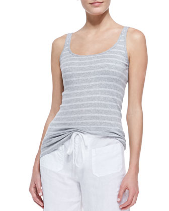Favorite Striped Tank, Gray/White