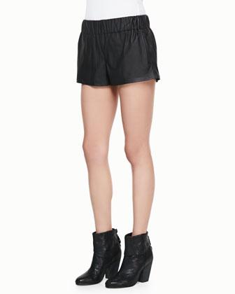 Coated Pajama Shorts