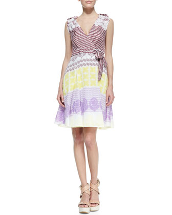 Elsa Printed Wrap Dress