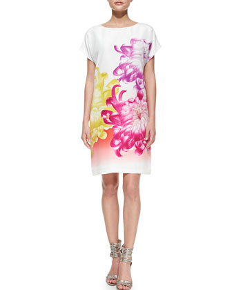 Harriet Tropical Peony Shift Dress