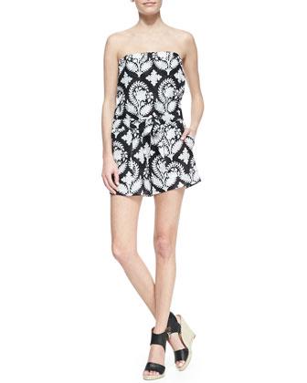 Miranda Crinkle Strapless Short Jumpsuit