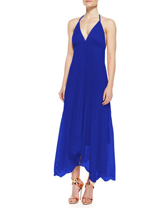 Adalyn Pleated Georgette Maxi Dress