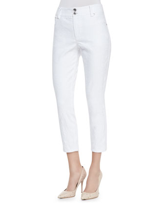 High-Waist Skinny-Leg Pants.