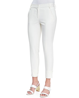 City Stretch Cropped Pants, Ivory