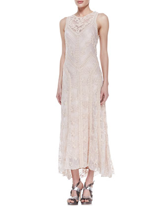 Neo-Romantic Lace Sleeveless Dress
