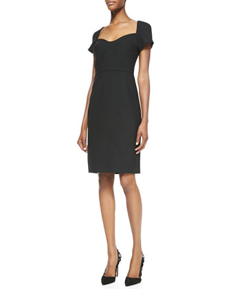 Katrina Cap-Sleeve Sheath Dress