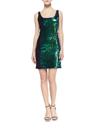Anna Sequin Tank Cocktail Dress