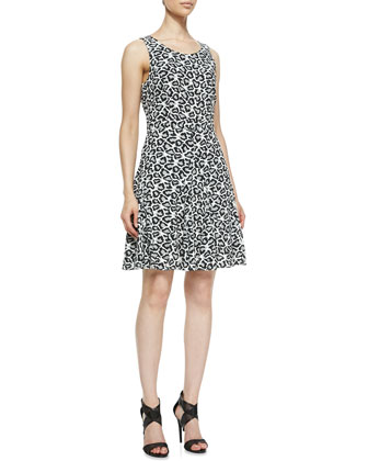 Clara Leopard-Print Fit-And-Flare Dress
