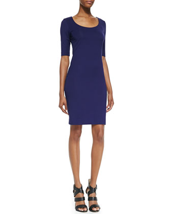Raquel Scoop-Neck Sheath Dress