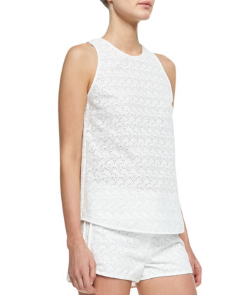 Ellice Sleeveless Eyelet Top