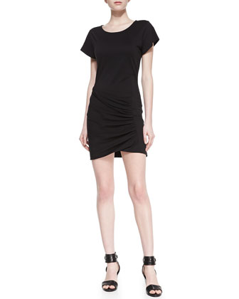 Sunly Jersey Wrapped T-Shirt Dress
