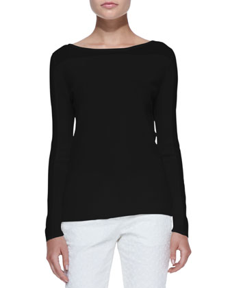Yabol Boat-Neck Knit Top