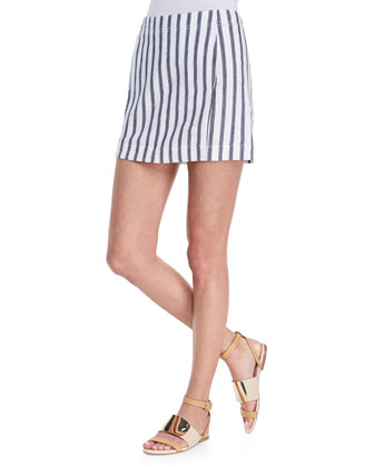 Chonos Striped Casual Skirt