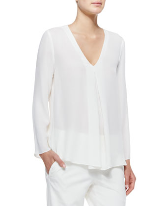 Trent V-Neck Georgette Blouse