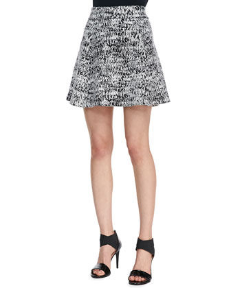 Doreene C Tweedscape A-Line Skirt