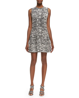 Alancy C Tweedscape Sleeveless Dress