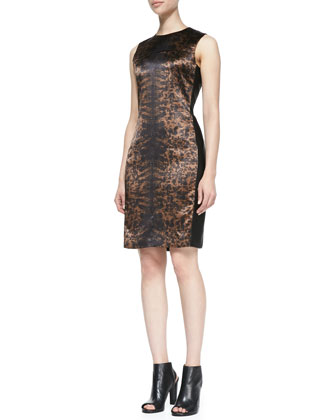 Printed Side-Panel Dress