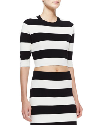 Prosecco Harmona S Striped Crop Top