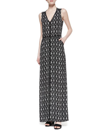 Jesse Open-Back Printed Dress