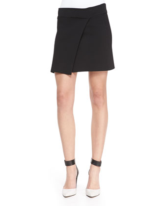 Pike Asymmetric Faux-Wrap Skirt
