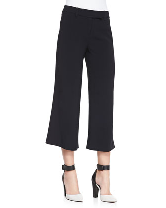 Woods Cuffed Crepe Gaucho Pants