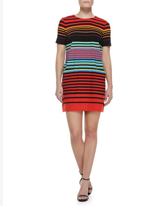 Paradise Striped Cotton-Jersey Dress