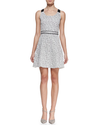 Heather Jacquard Scoop-Neck Dress