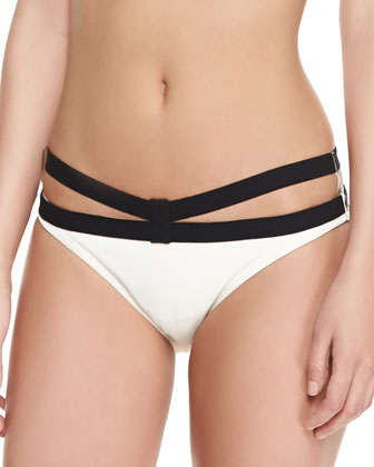 Massai Strappy Two-Tone Swim Bottom