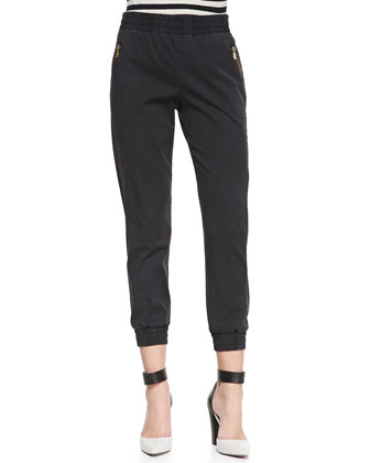 Samantha Pull-On Twill Pants