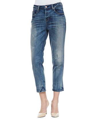 Jessie Boyfriend Cropped Denim Jeans