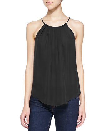 Amarey Silk Sleeveless Tank Top