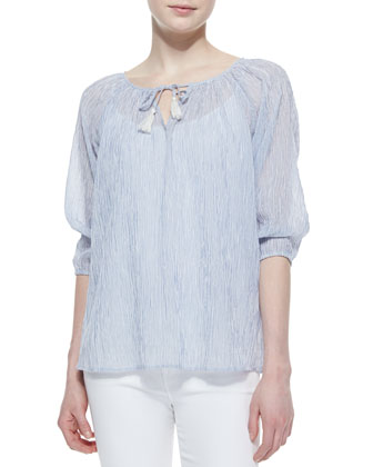 Legapsi Cotton 3/4-Sleeve Top