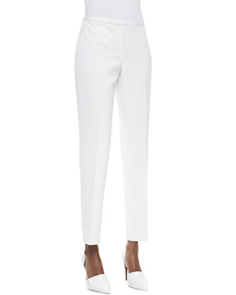 Jillian Slim Cropped Pants, White